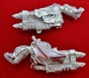 Sammael Master of the Ravenwing Jetbike Jet Bike Legs and Exhaust (metal)